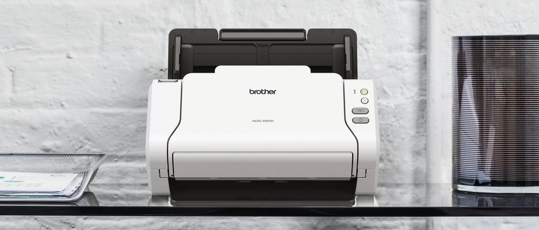 Genuine Brother document scanner on a desk