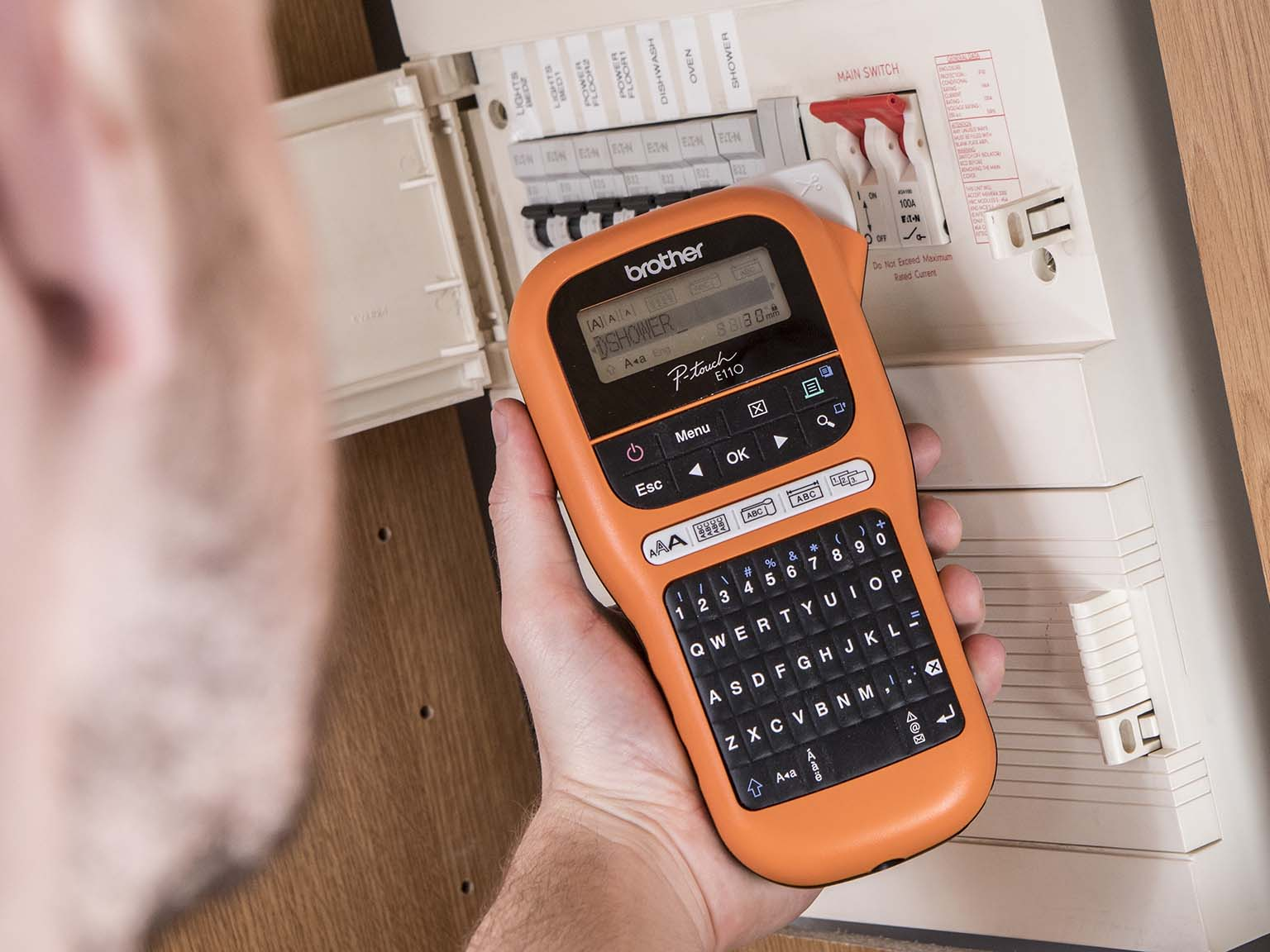 Brother P-touch E110 label printer