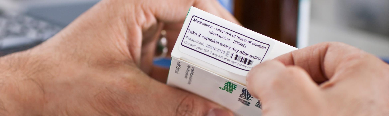 Drug packet label