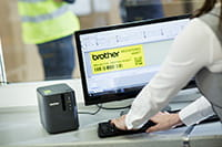 Brother PT-P900W label printer with P-touch Editor label design software