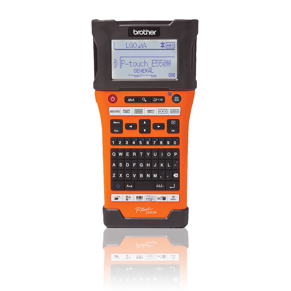PT-E550WVP - Handheld Industrial Label Printer