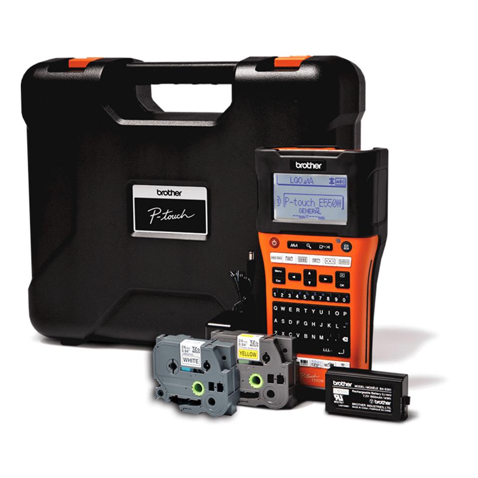 PT-E550WVP - Handheld Industrial Label Printer 2