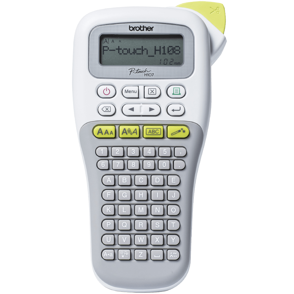 P-touch PT-H108G Handheld Label Printer 7