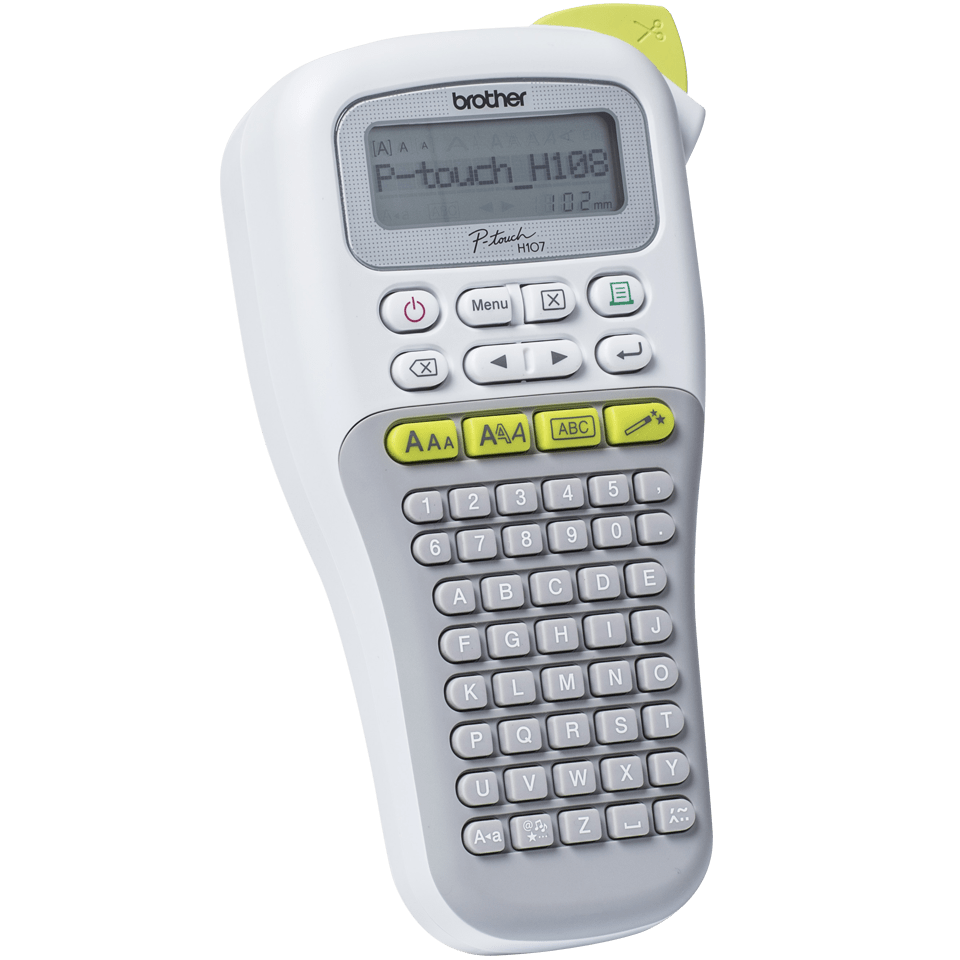 P-touch PT-H108G Handheld Label Printer 2