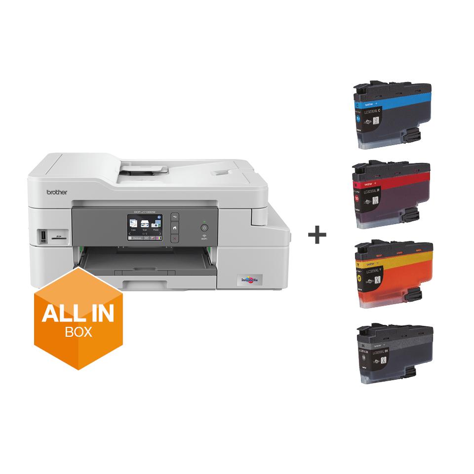 DCP-J1100DW Wireless 3-in-1 Colour Inkjet Printer All In Box 7