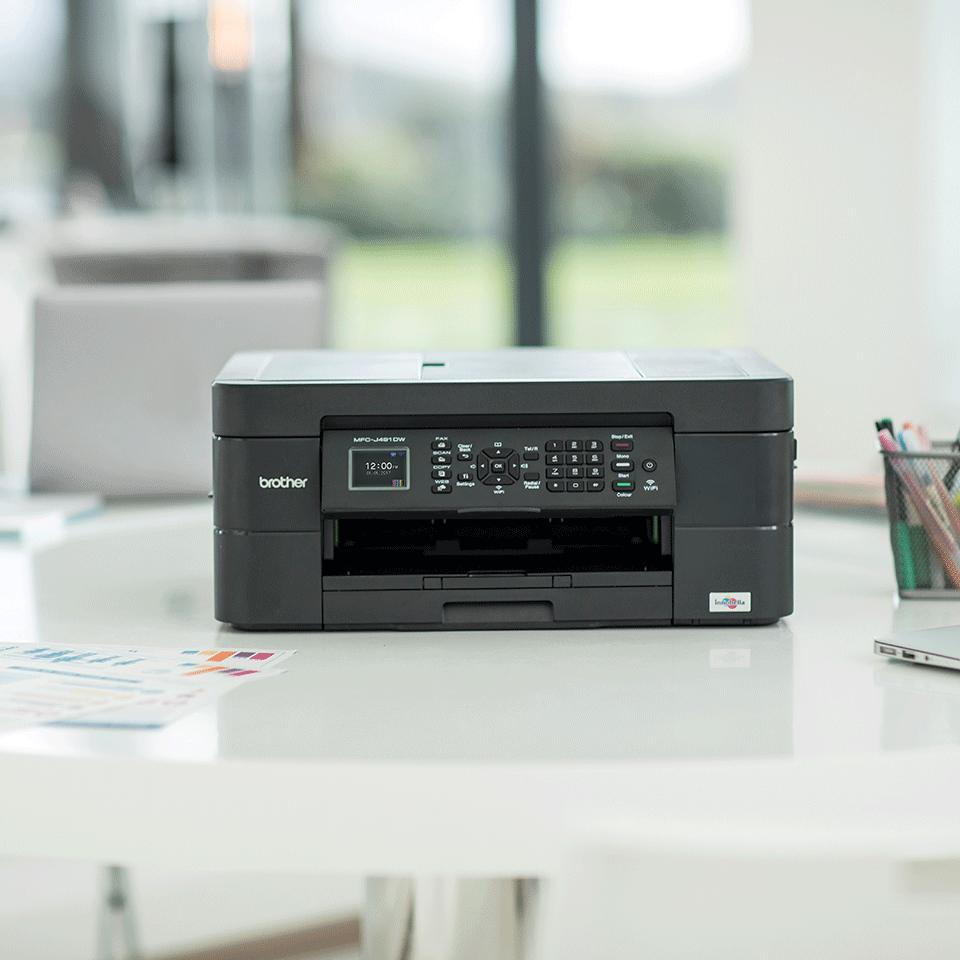 Wireless 4-in-1 Colour Inkjet Printer MFC-J491DW 3