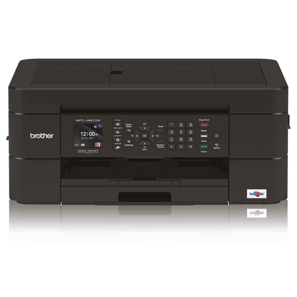 Wireless 4-in-1 Colour Inkjet Printer MFC-J491DW