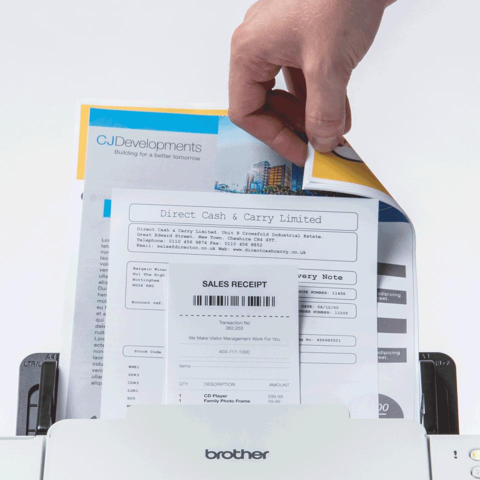 Brother ADS-2700W wireless, networked desktop document scanner 4
