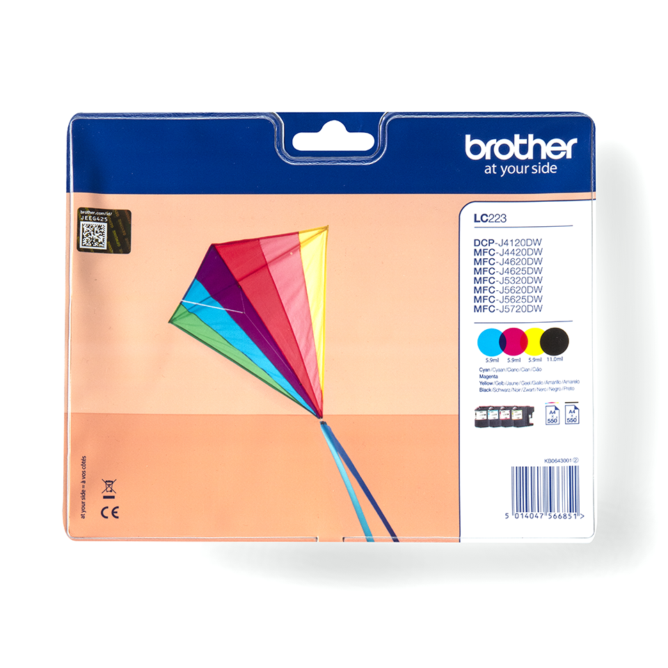 Genuine Brother LC223VALBP Ink Cartridge Multipack
