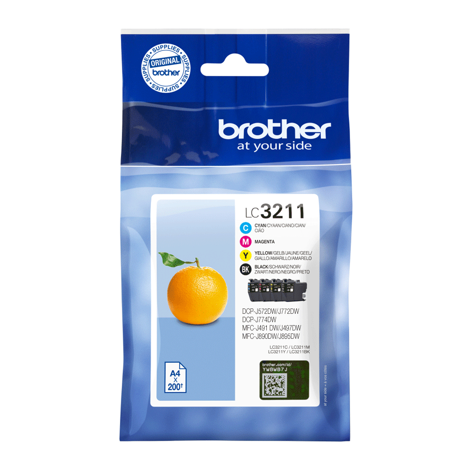 Genuine Brother LC3211VAL ink catridges - black, cyan, magenta, yellow 2