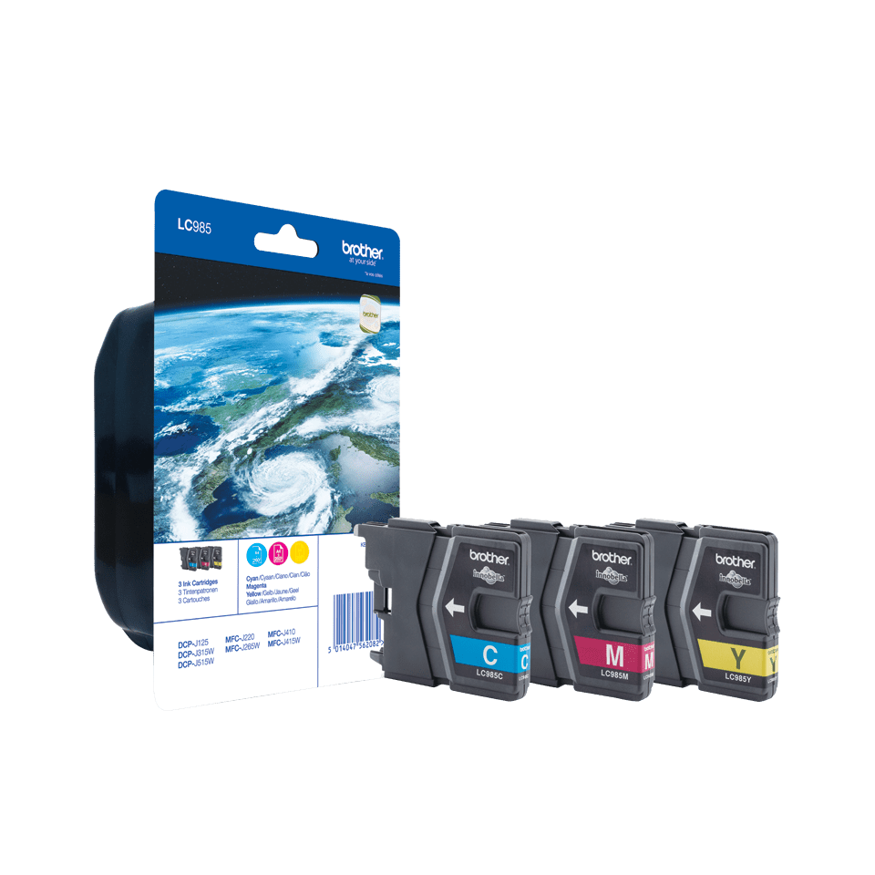 Genuine Brother LC985RBWBP Ink Cartridge Blister Pack