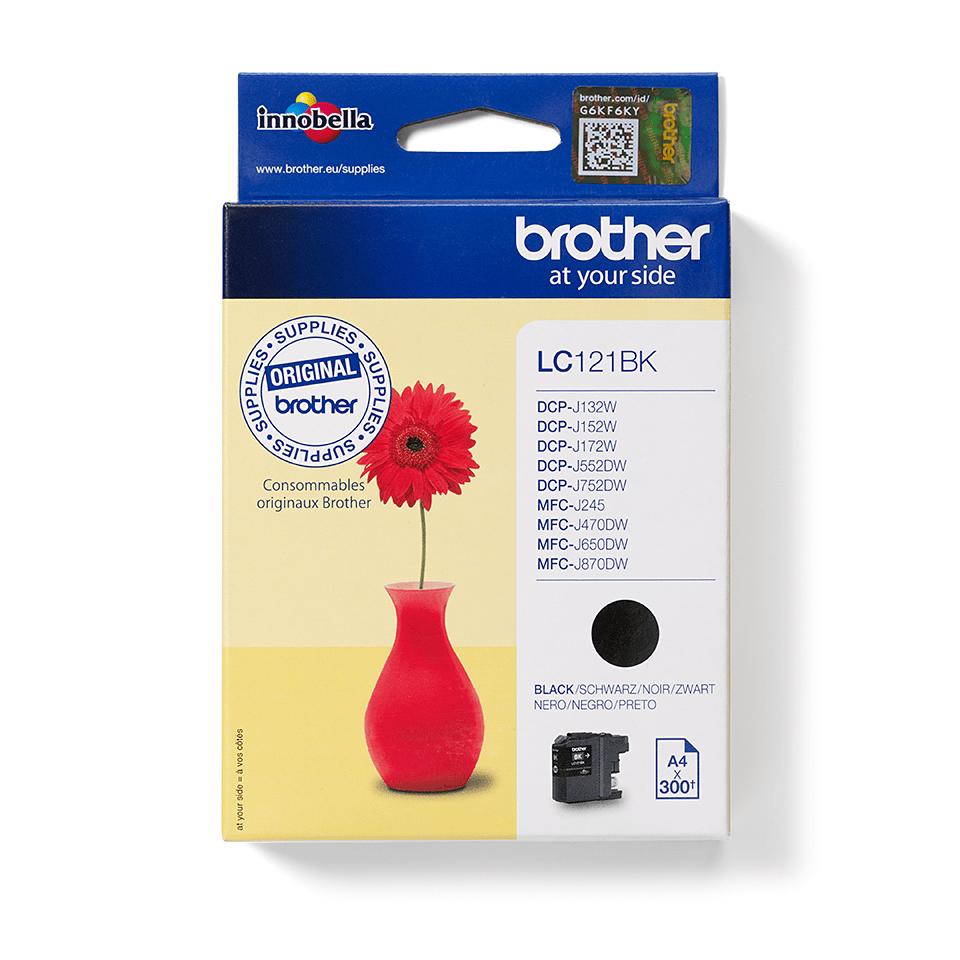 Genuine Brother LC121BK Ink Cartridge – Black 0