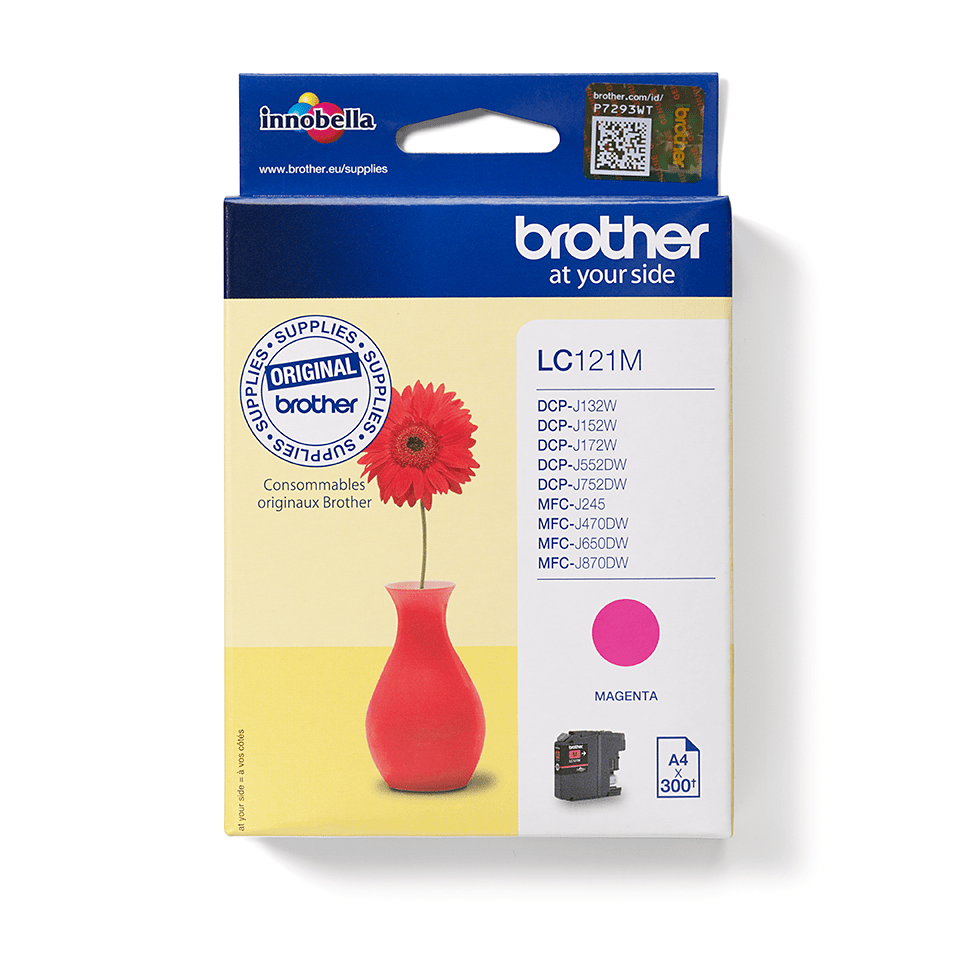 Genuine Brother LC121M Ink Cartridge – Magenta 0