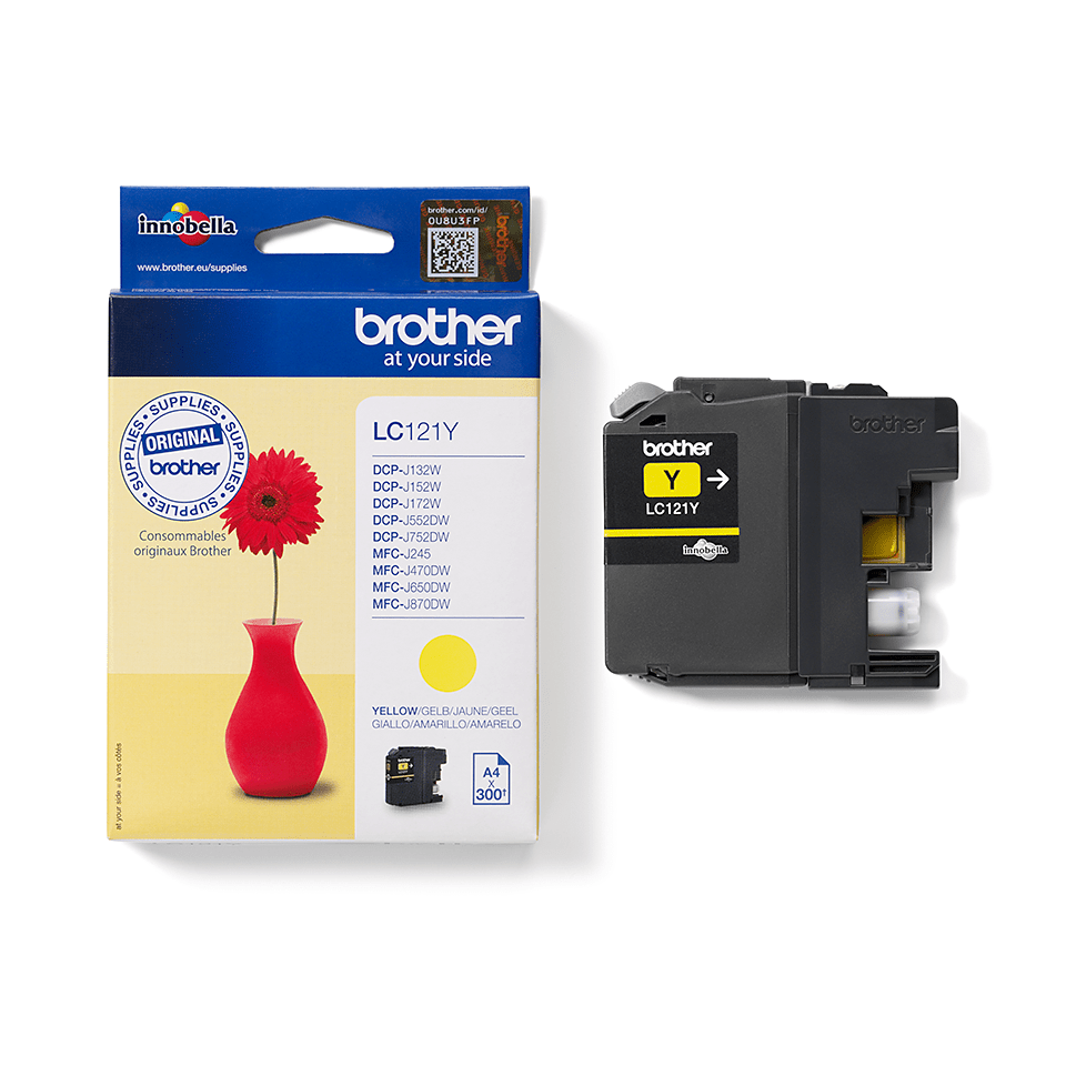 Genuine Brother LC121Y Ink Cartridge – Yellow 2
