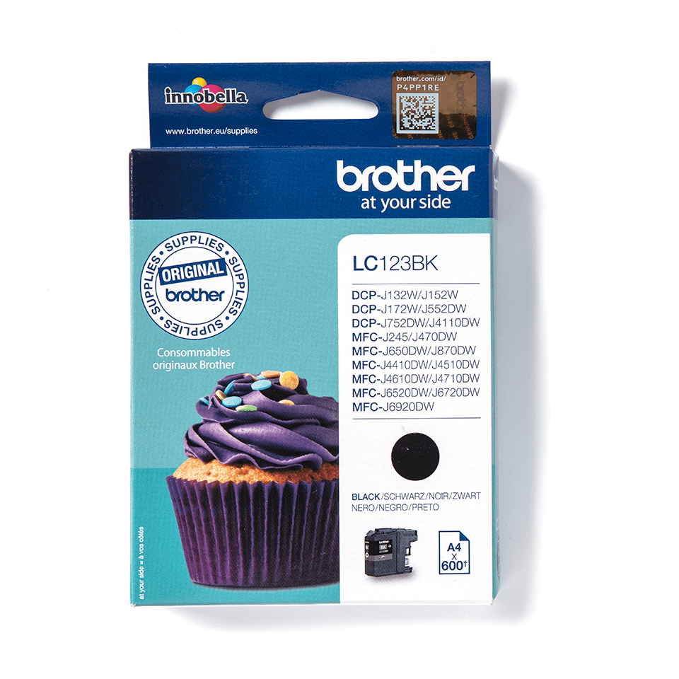 Genuine Brother LC123BK Ink Cartridge – Black 2