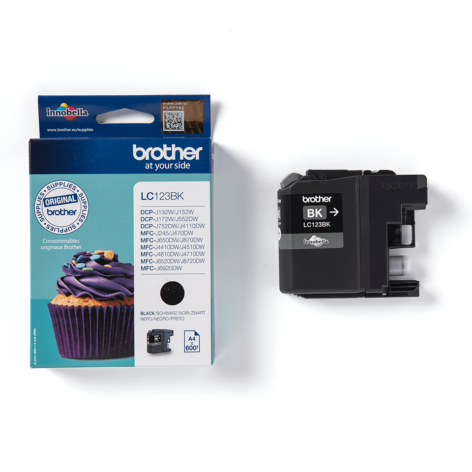 Genuine Brother LC123BK Ink Cartridge – Black