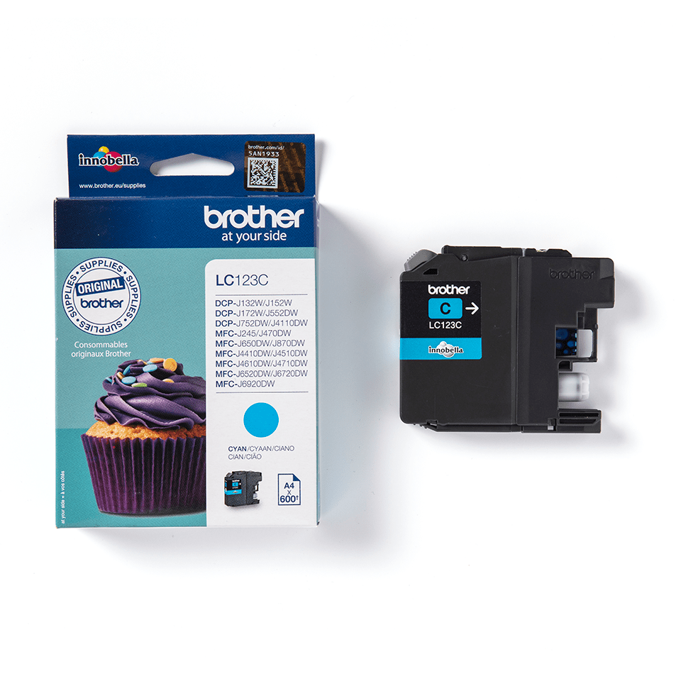Genuine Brother LC123C Ink Cartridge – Cyan 2