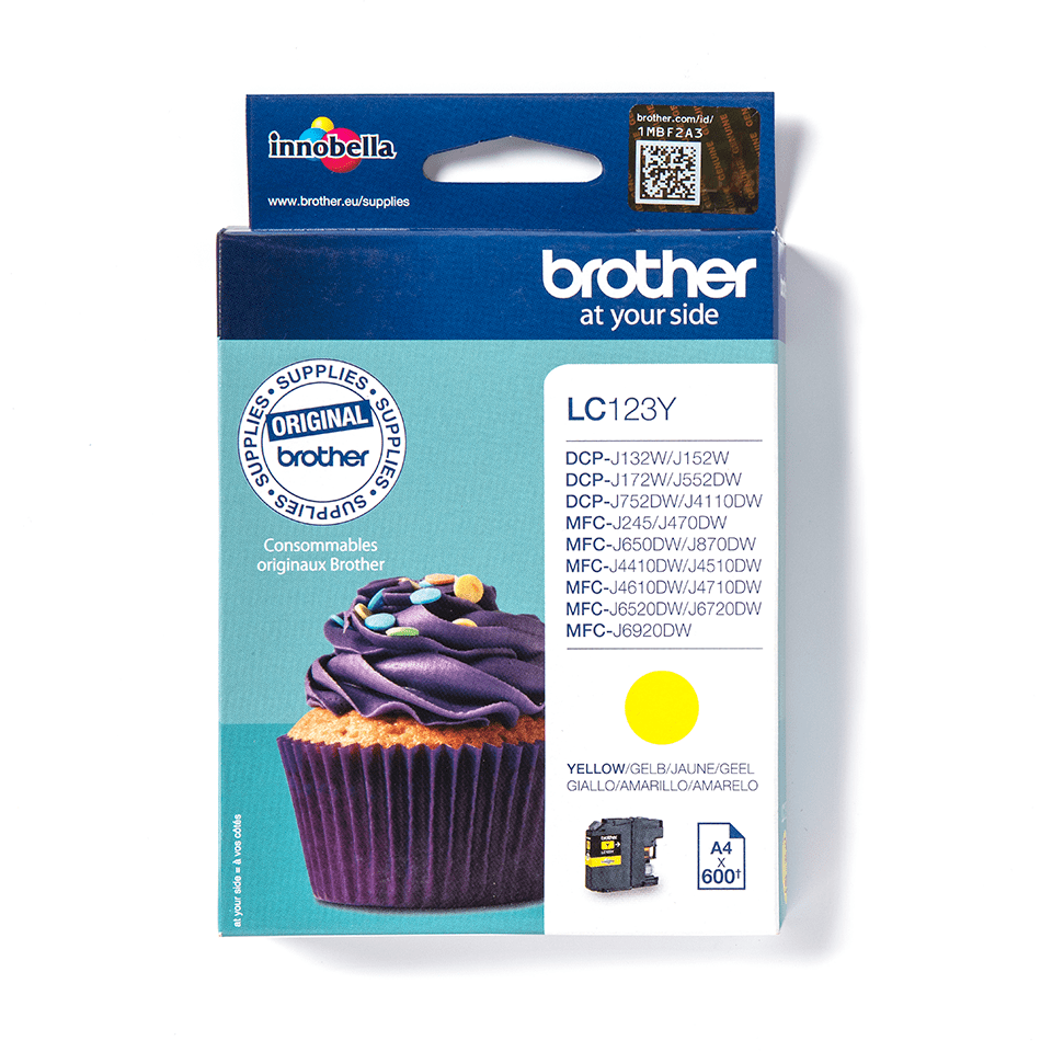 Genuine Brother LC123Y Ink Cartridge – Yellow 1