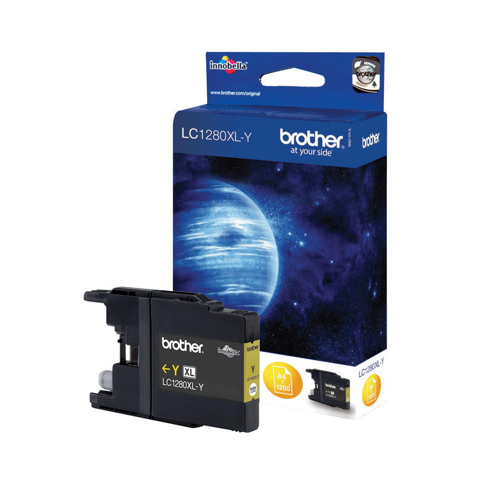 Genuine Brother LC1280XLY High Yield Ink Cartridge – Yellow