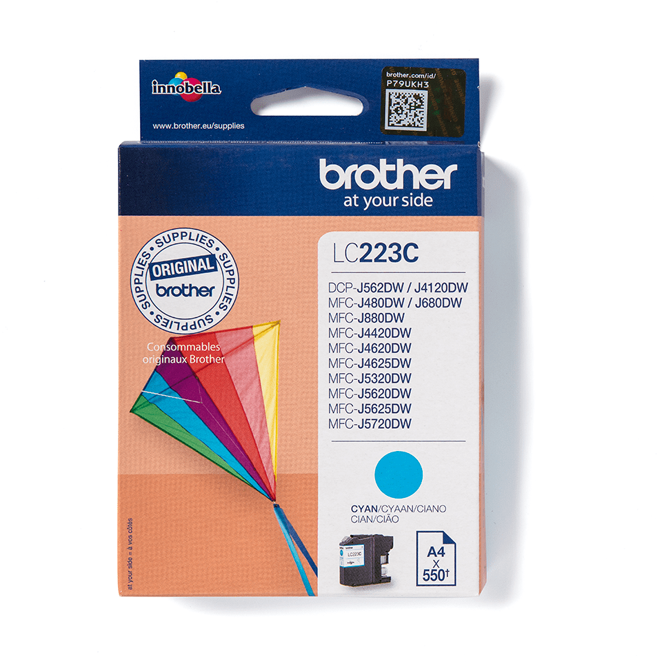 Genuine Brother LC223C Ink Cartridge – Cyan
