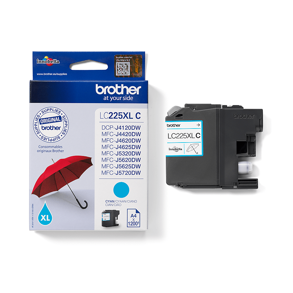 Genuine Brother LC225XLC Ink Cartridge – Cyan 2