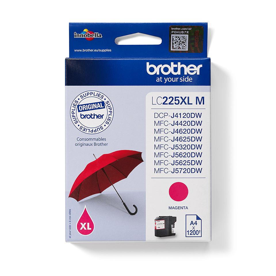 Genuine Brother LC225XLM Ink Cartridge – Magenta