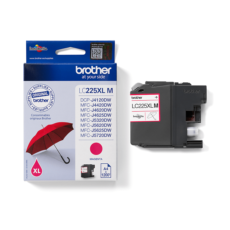 Genuine Brother LC225XLM Ink Cartridge – Magenta 2