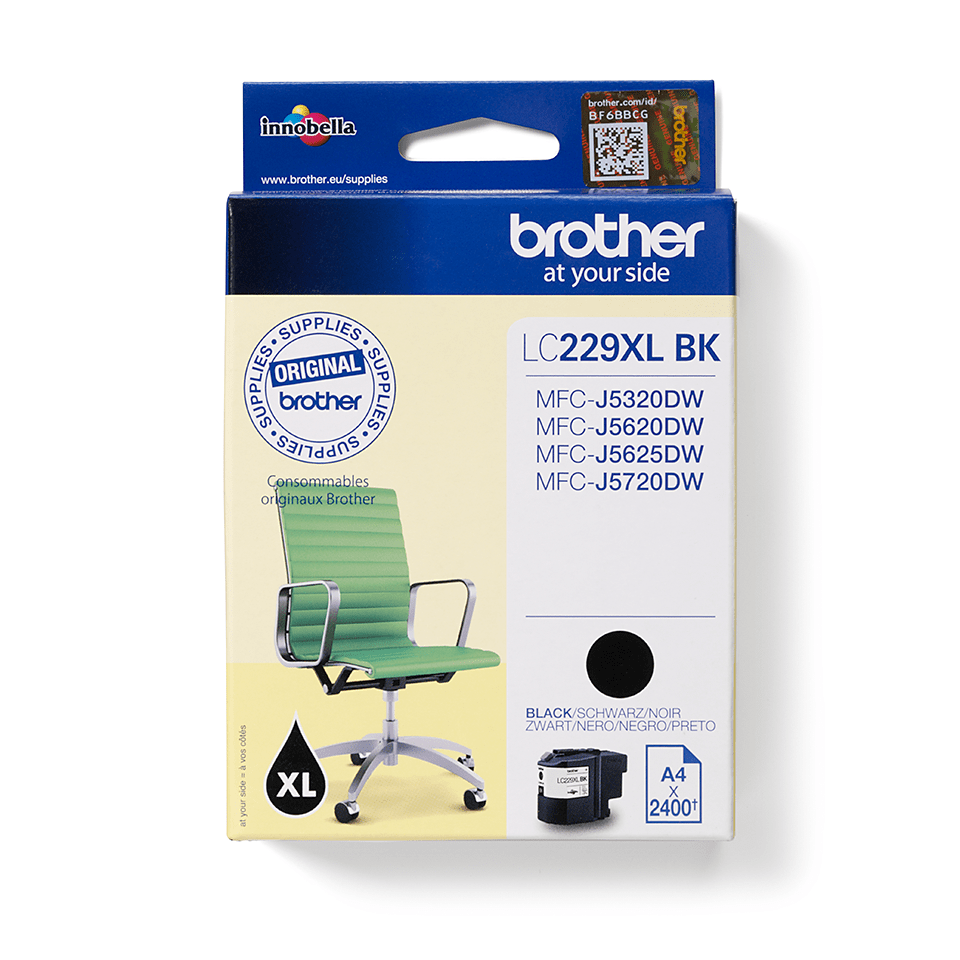 Genuine Brother LC229XLBK Ink Cartridge – Black 2