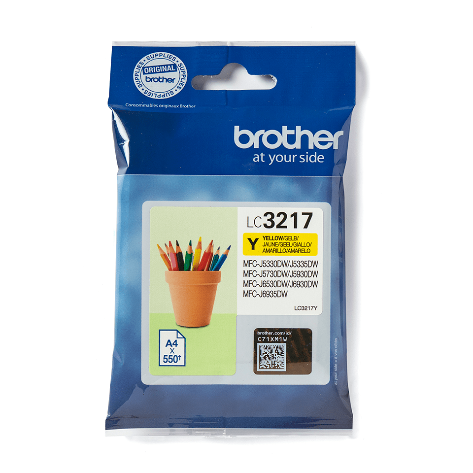 Genuine Brother LC3217Y Ink Cartridge – Yellow 2