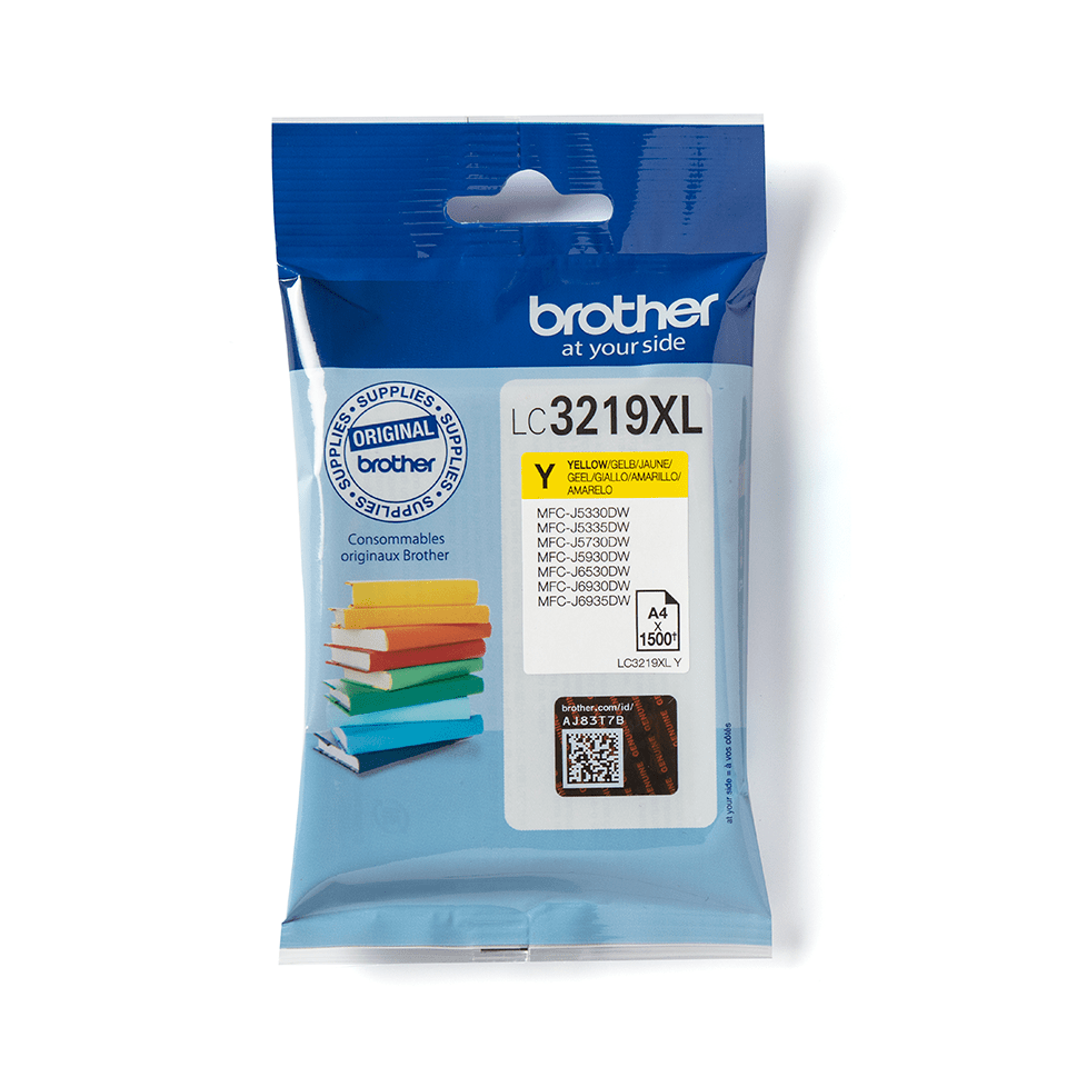 Genuine Brother LC3219XLY Ink Cartridge in yellow