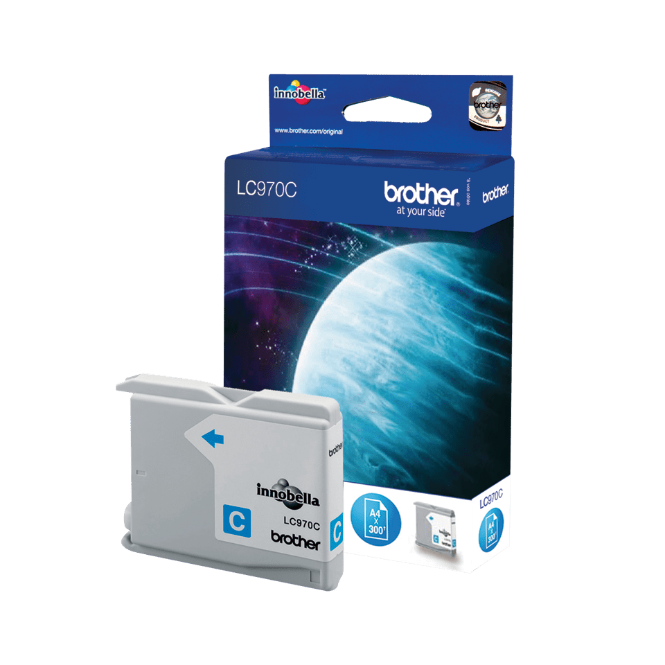 Genuine Brother LC970C Ink Cartridge – Cyan