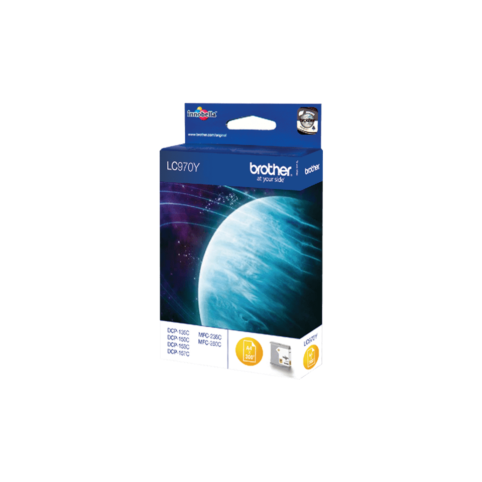 Genuine Brother LC970Y Ink Cartridge – Yellow 2