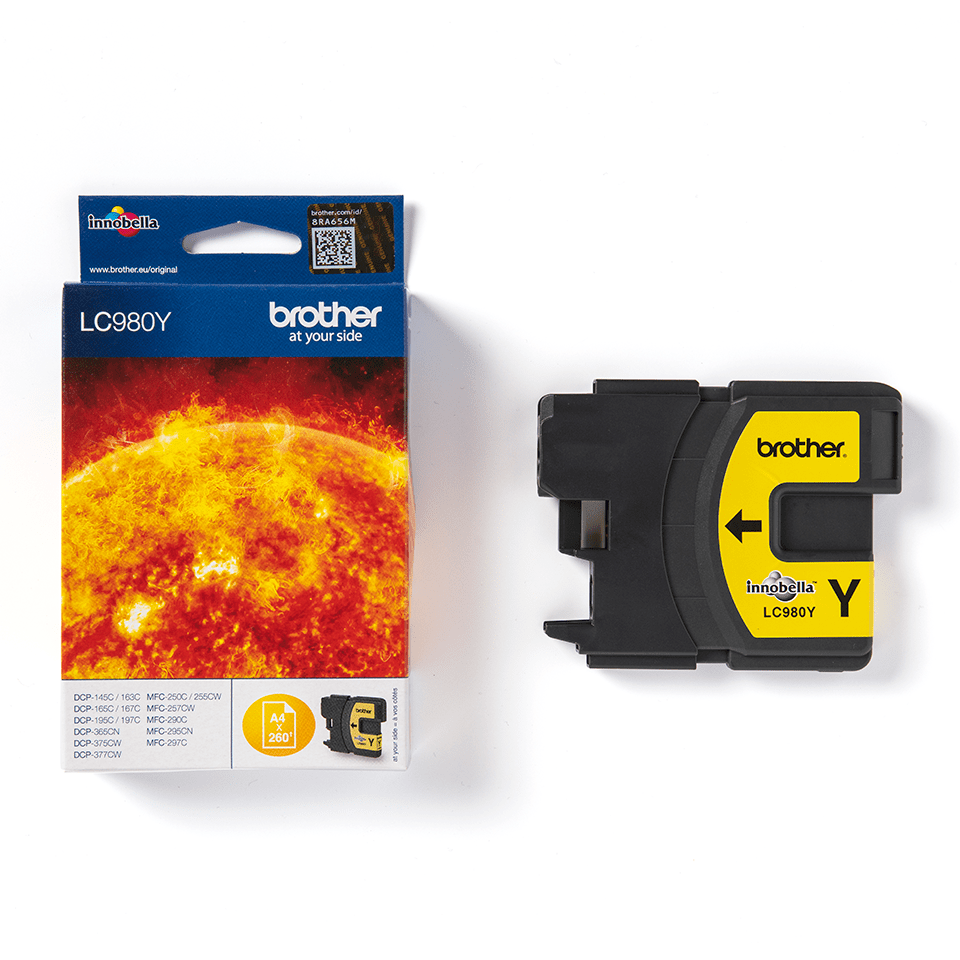 Genuine Brother LC980Y Ink Cartridge – Yellow 2
