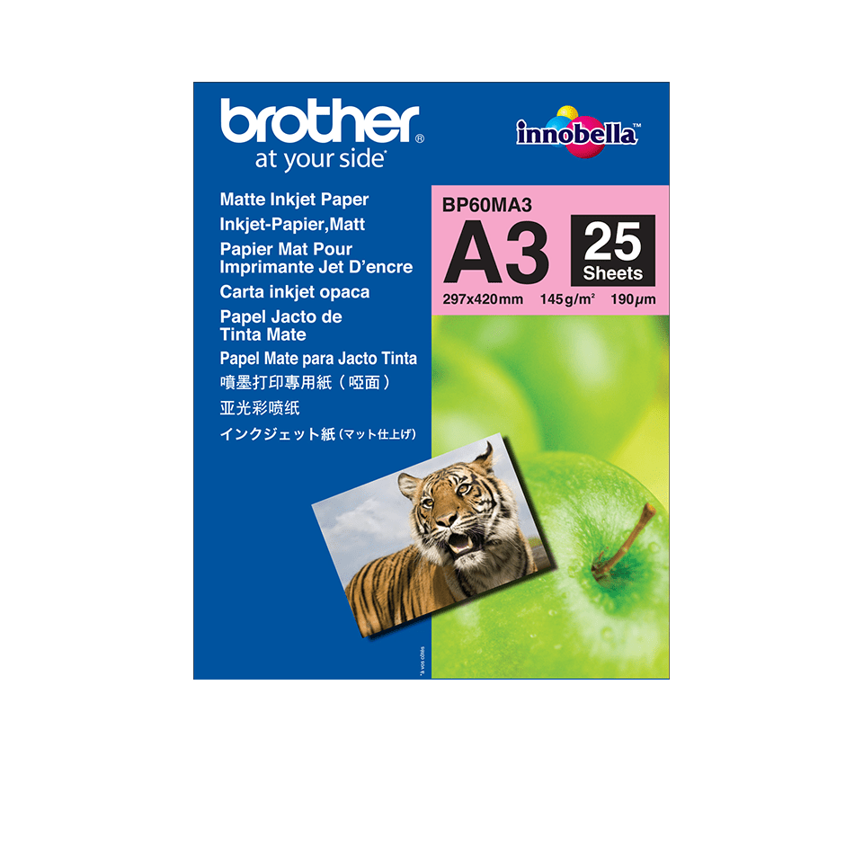 Genuine Brother BP60MA3 Matte A4 Inkjet Paper 0