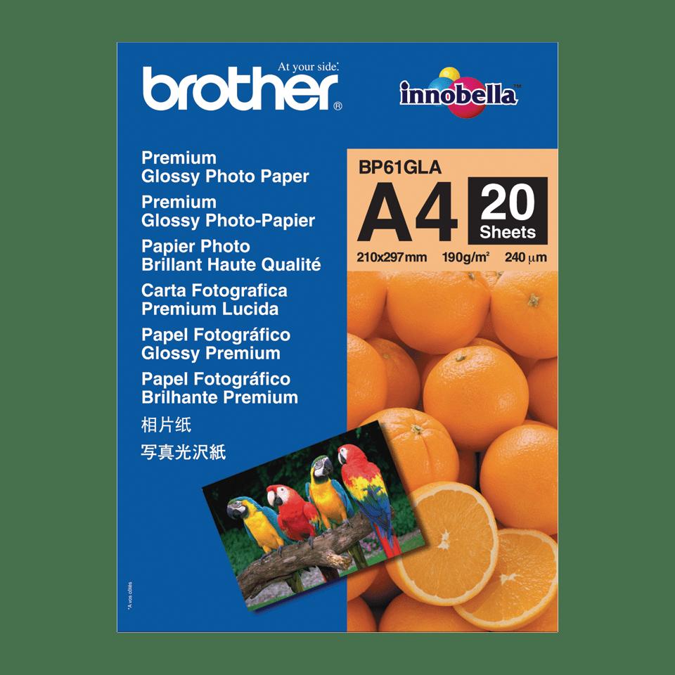 Genuine Brother BP61GLA Glossy A4 Photo Paper
