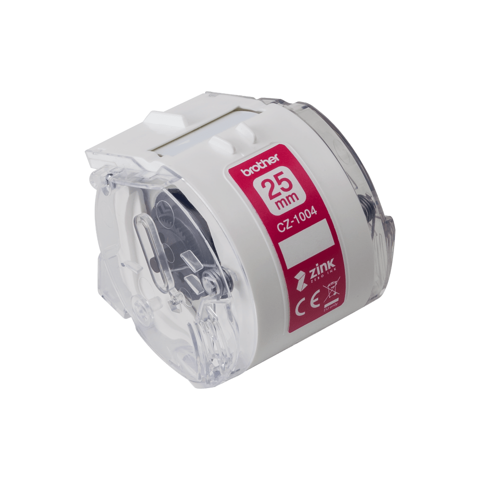 Genuine Brother CZ-1004 full colour continuous label roll, 25mm wide 2