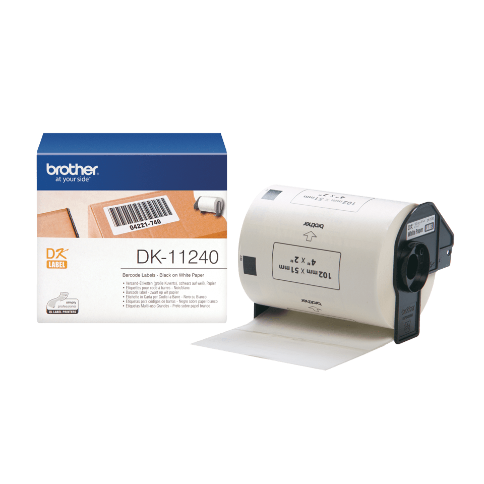Genuine Brother DK-11240 Label Roll – Black on White, 102mm x 51mm 3