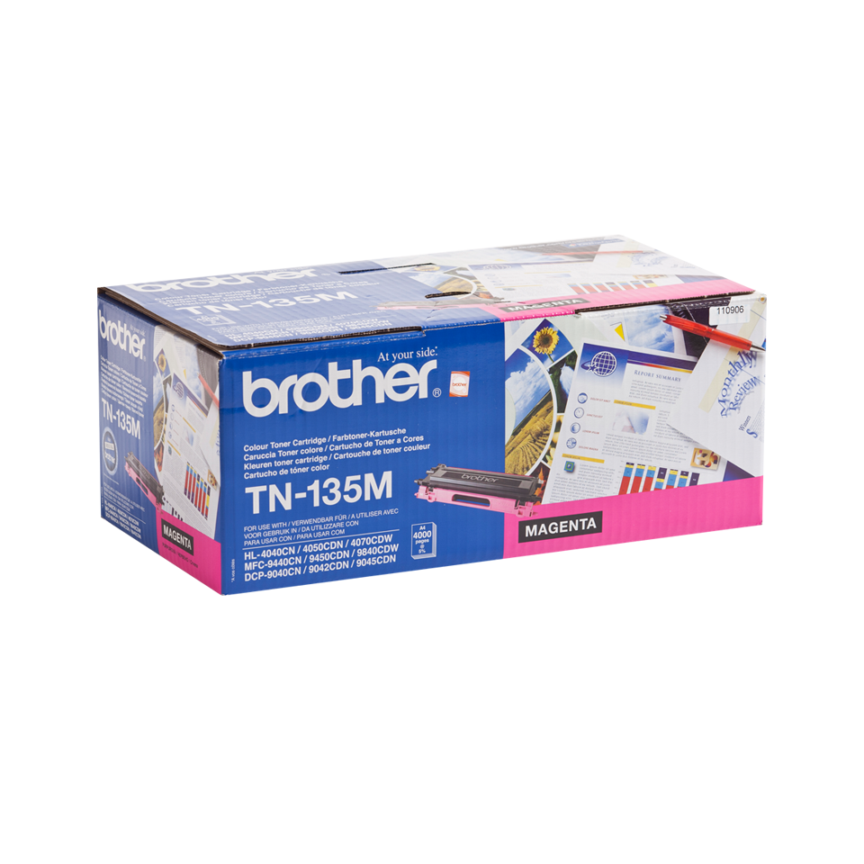 Genuine Brother TN-135M High Yield Toner Cartridge – Magenta  2