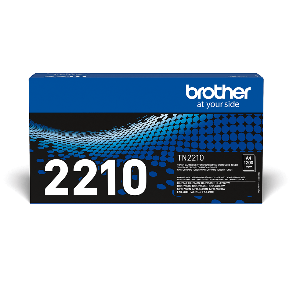 Genuine Brother TN2210 Toner Cartridge – Black