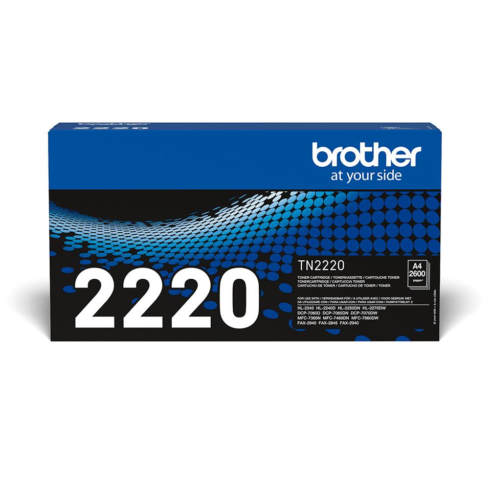 Genuine Brother TN2220 High Yield Toner Cartridge – Black 2