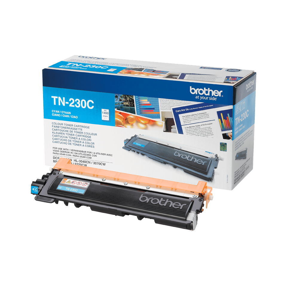 Genuine Brother TN230C Toner Cartridge – Cyan 1