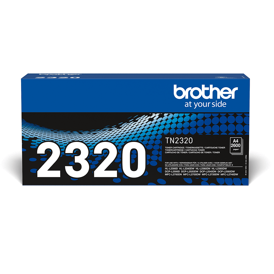 Genuine Brother TN-2320 High Yield Toner Cartridge – Black