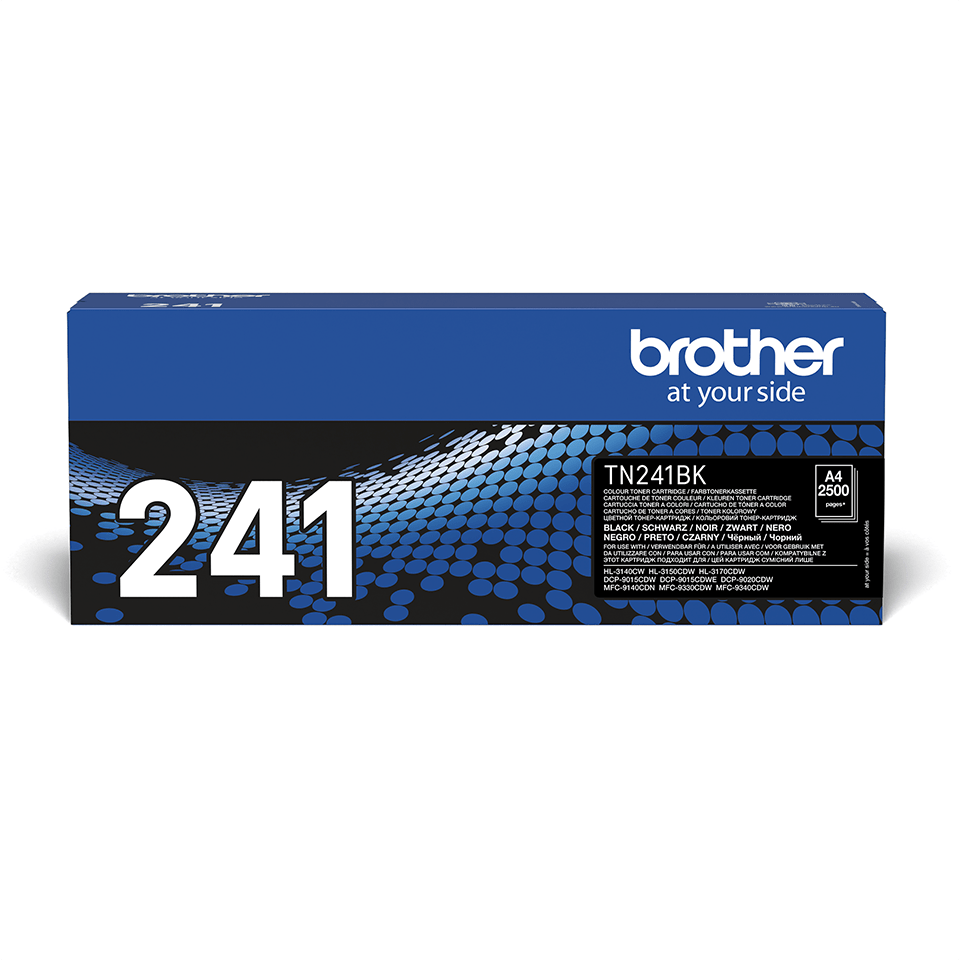 Genuine Brother TN241BK Toner Cartridge – Black