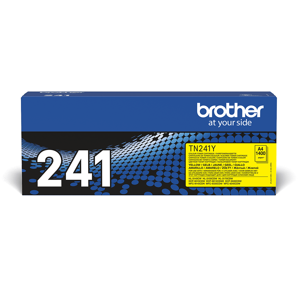 Genuine Brother TN-241Y Toner Cartridge – Yellow