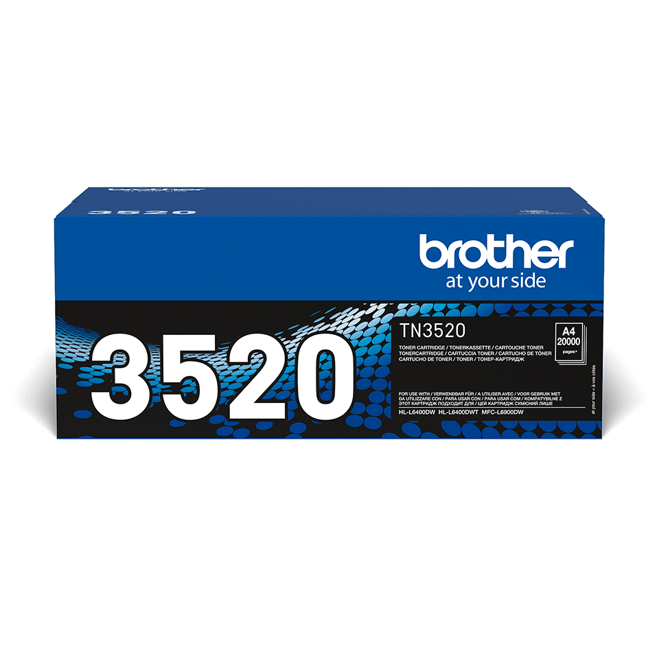 Genuine Brother TN3520 Ultra High Yield Toner Cartridge – Black  2