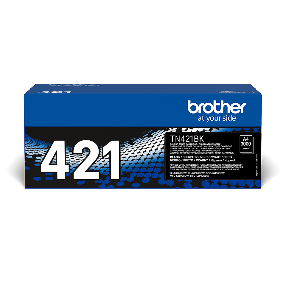Brother TN-421BK Toner Cartridge - Black 1