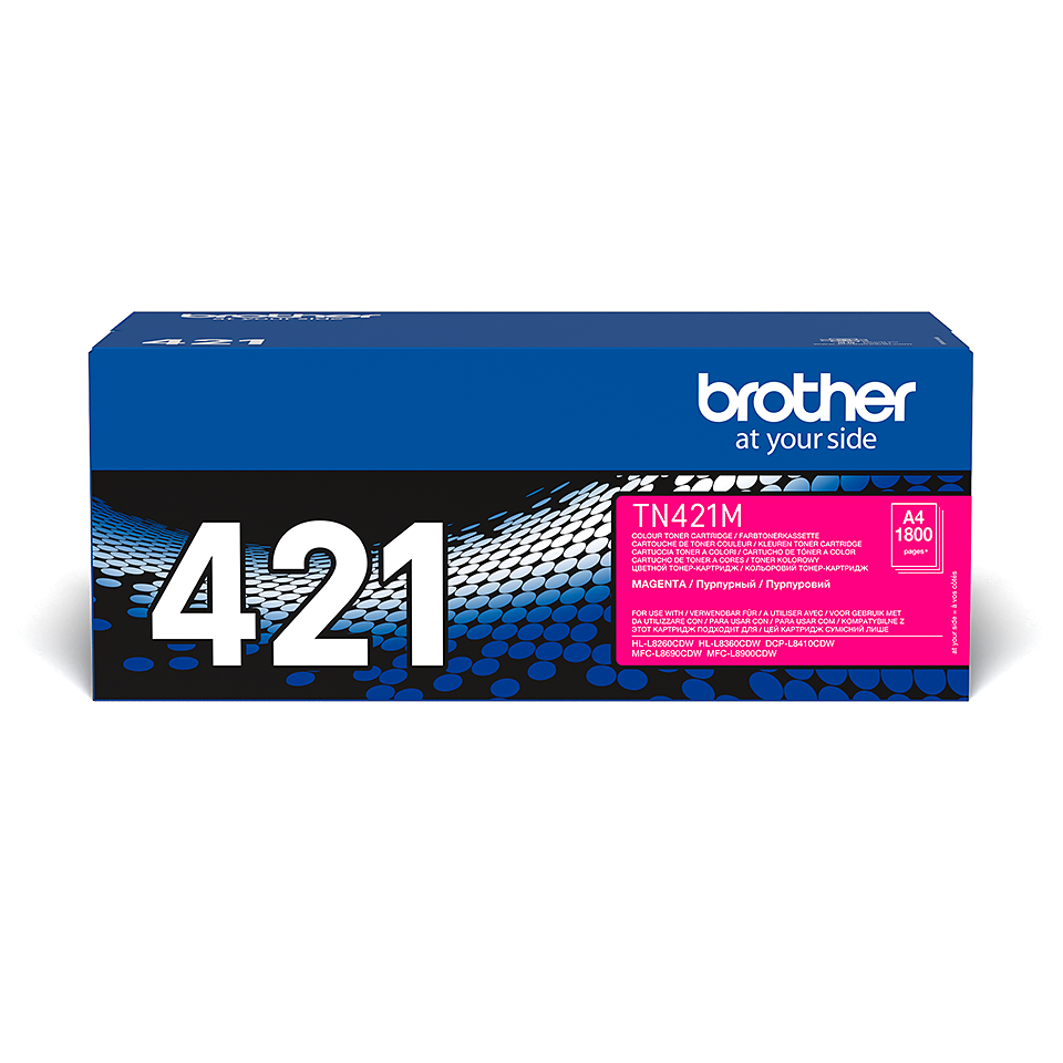 Brother TN-421M Toner Cartridge - Magenta 1
