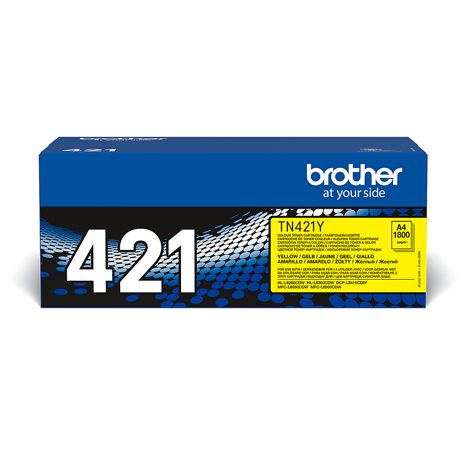 Brother TN-421Y Toner Cartridge - Yellow 2