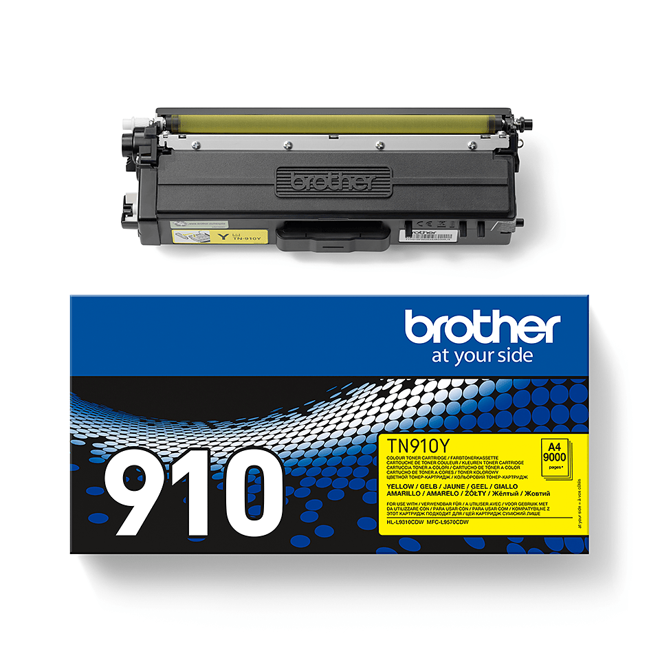 Brother TN-910Y Toner Cartridge - Yellow 1