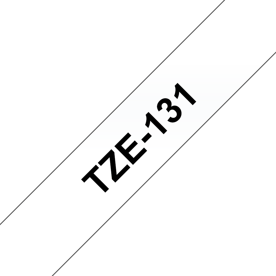 Genuine Brother TZe-131 Labelling Tape – Black on Clear, 12mm wide 3
